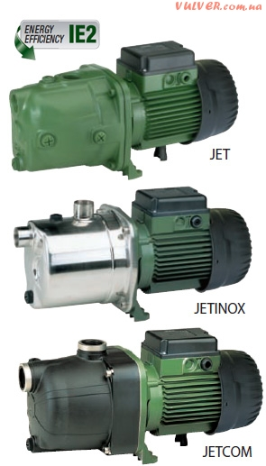 Многоступенчатые самовсасывающие насосы JET, JETCOM, JETINOX