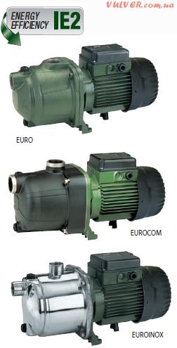 Многоступенчатые насосы  EURO, EUROCOM, EUROINOX