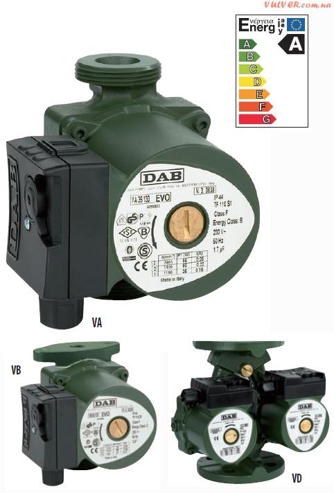Циркуляционные насосы для бытовых систем отопления VA-VB-VD серии EVO