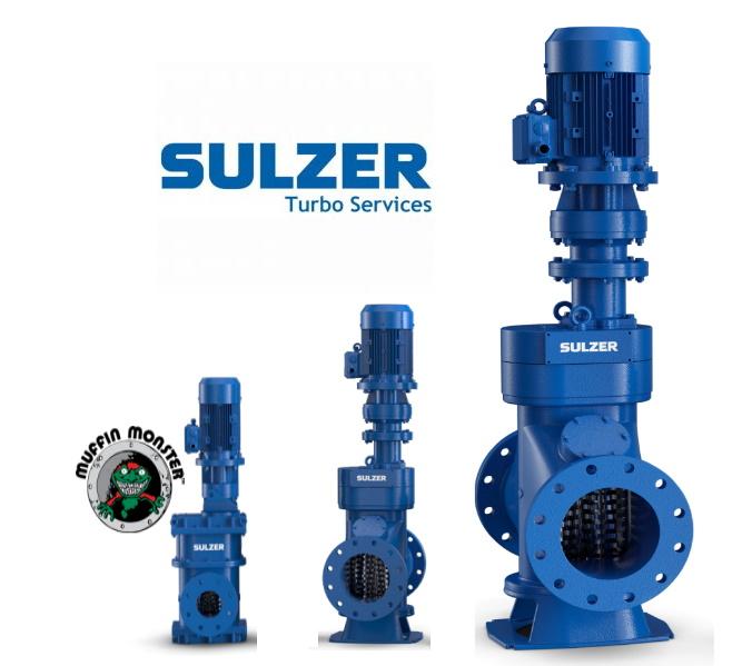 Решетки-дробилки SULZER Ин-лайн / установка в открытом канале